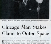 The man who claimed outer space in 1948